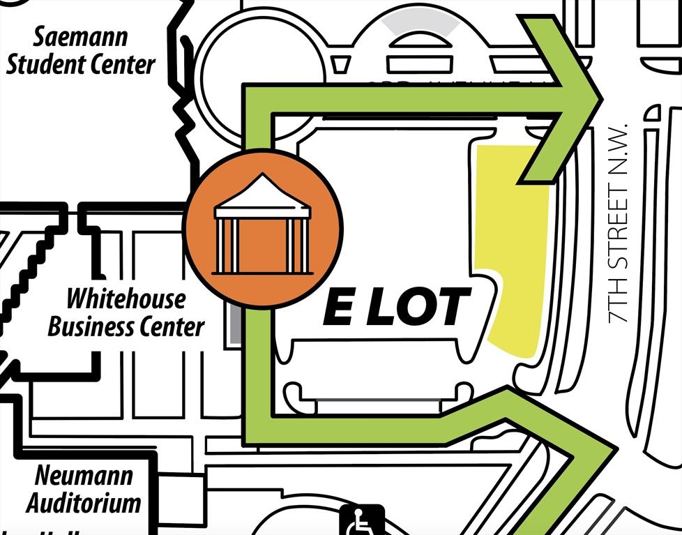 E Lot parking map
