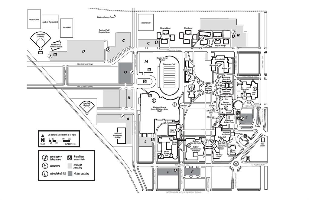 Wartburg College Campus Map.Marketing And Communications Wartburg Science Symposium
